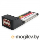 AgeStar as-eces2-s, Expresscard, порты: 2 х внешн. eSATAII (SILICON 3132 chip)