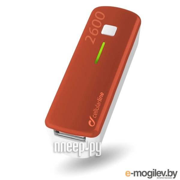 Cellular Line 2600 mAh Red POCKETCHG2600R
