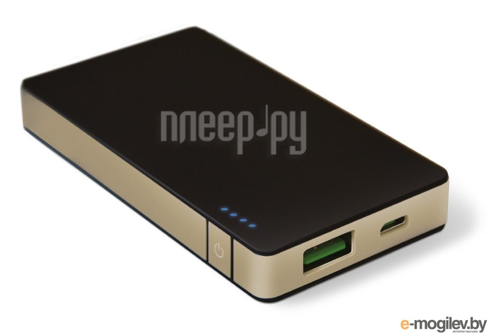 Celly Power Bank 4000 mAh 1.5A Black-Gold PB4000ALUGD
