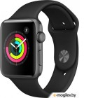 Смарт-часы APPLE Watch Series 3 42mm Grey Space with Black Sport Band MQL12RU/A