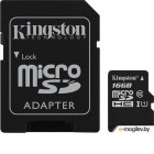 Карты памяти. Карта памяти MicroSDXC 16GB  Kingston Class 10 UHS-I U1 Canvas Select + адаптер  [SDCS/16GB]