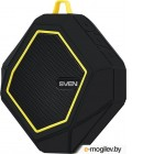 [NEW] Колонка SVEN PS-77 Black-Yellow (5W, Bluetooth,  microSD, FM,  Li-Ion)