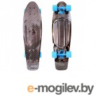 Скейты Y-SCOO Big Fishskateboard Metallic 27 Blue-Black