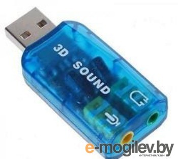 USB TRUA3D C-Media CM108 2.0 channel out 44-48KHz 5.1 virtual channel RTL xит