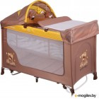 Кровать-манеж Lorelli San Remo Rocker Family Beige/Yellow (10080091803)