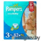 PAMPERS  Active Baby Midi 3 4-9 кг 82шт