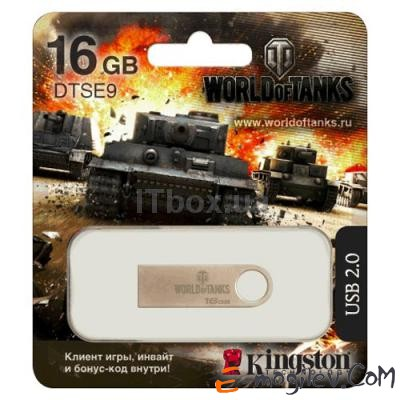 Kingston 16Gb Data Traveler SE9 World of Tanks Edition KC-U4616-4F