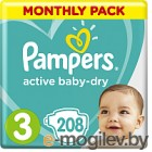 Подгузники Pampers Active Baby-Dry 3 Midi (208шт)