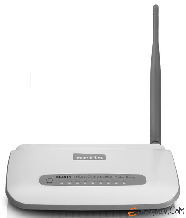 Netis DL4311 4 Ports 150Mbps Wireless N ADSL 2/2+ Modem Router,  Annex A, with ADSL spliter, fixed 5 dBi Antenna