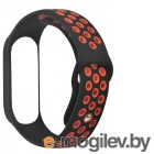 Ремешок DF для Xiaomi Mi Band 3/4 xiSportband–02 Black-Red