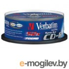 Verbatim CD-R 80min 700Mb 52x 25 шт Cake Box Crystal AZO 43352