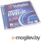 Verbatim DVD+R 8.5Gb 8x Jewel Dual Layer 43541540
