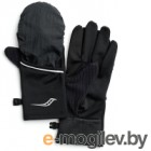 Перчатки для бега Saucony 2020-21 Fortify Convertible Gloves / SAU900005 (L, Black)