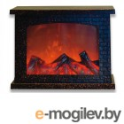 Uniel ULD-L2821-005/DNB/Red-Brown Fireplace