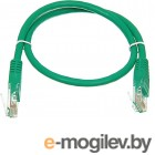 Patchcord molded 5E Copper 0.5m green