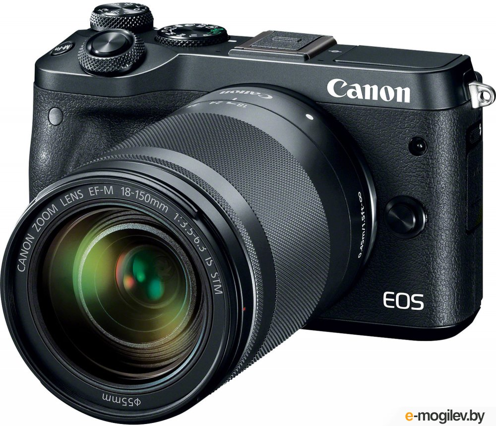 Фотоаппарат Canon EOS M6 черный 24Mpix 3 1080p WiFi 18-150 IS STM f/ 3.5-6.3 LP-E17
